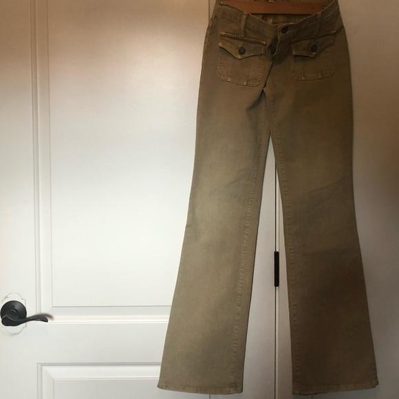 Blue Cult Tan Corduroy Gwyneth Pant Size 27
